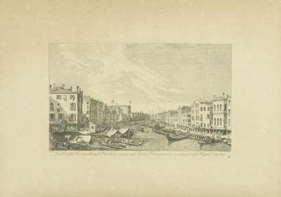 Antonio Visentini - Ex Ponte Rivo alti ad 69 rientem, usque ad Aedes Foscarorum, cui respondet Ripa Vinaria