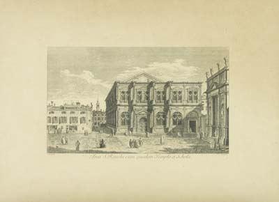 Antonio Visentini - Area S. Rocchi cum ejusdem Templo et Scola