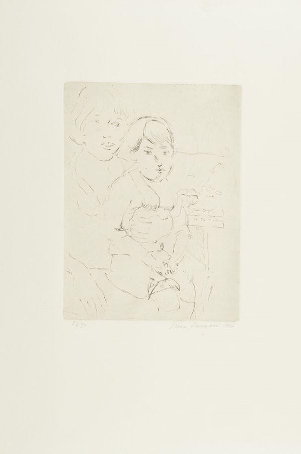 Enzo Faraoni - Donna con bambino