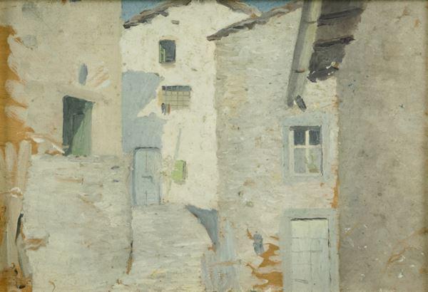 Vittorio Matteo Corcos - Strada di paese