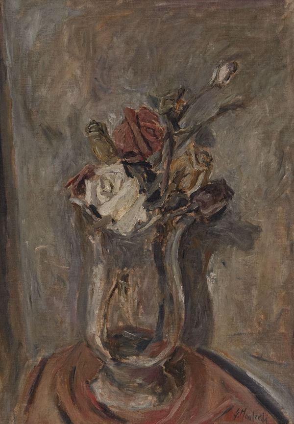Giuseppe Manfredi - Vaso con rose