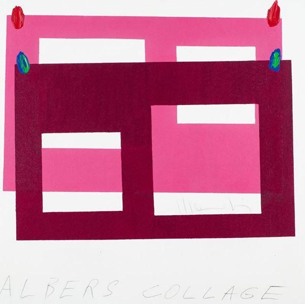 Aldo Mondino - Albers collage