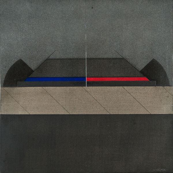 Walter Valentini - Orizzontale rosso - azzurro