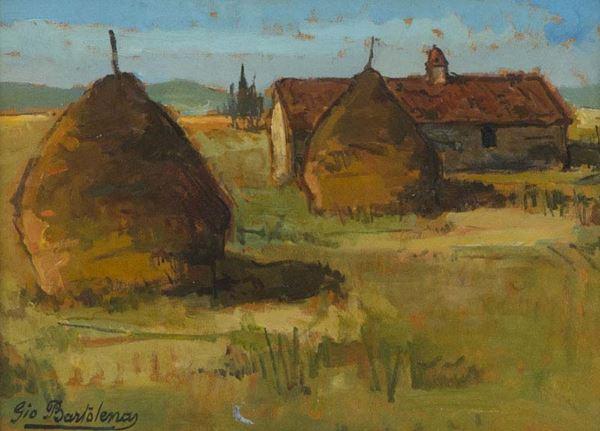 Giovanni Bartolena - Casolare e pagliai