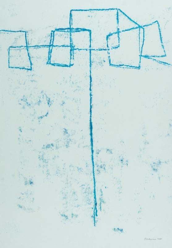 Venturino Venturi : Senza titolo 1988 - Olio su carta - Asta Arte Moderna e Contemporanea, '800 e'900 - Fabiani Arte