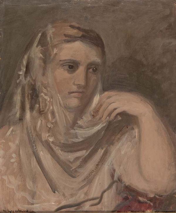 Ugo Capocchini - Ritratto di donna con velo