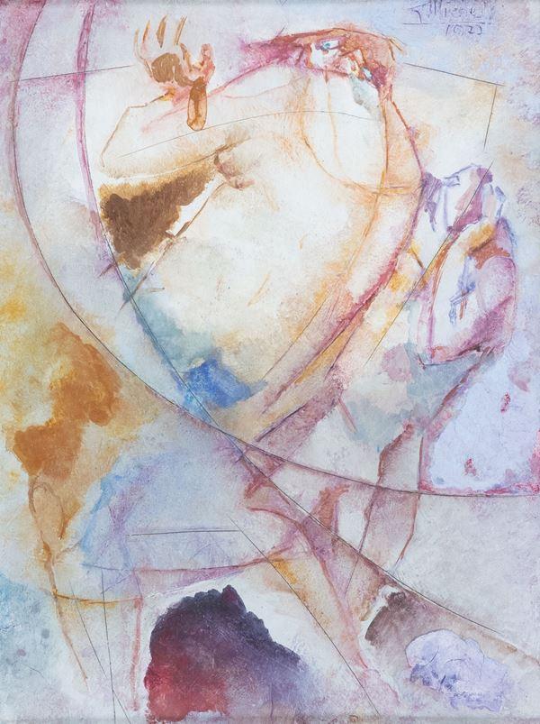 Giorgio Michetti - Cariatide viola nel vento