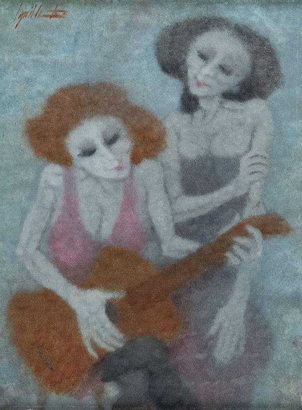Remo Squillantini - Donne con chitarra
