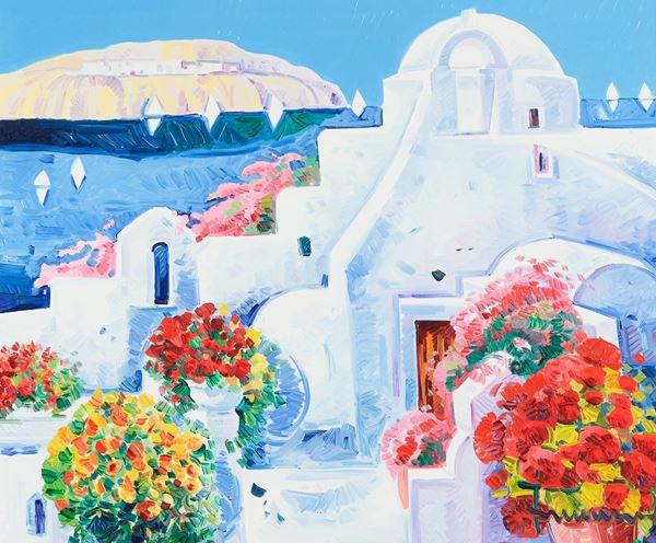 Athos Faccincani - La gioia di un racconto intorno a Santorini