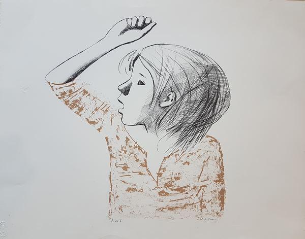Xavier Bueno - Bambina con braccio alzato