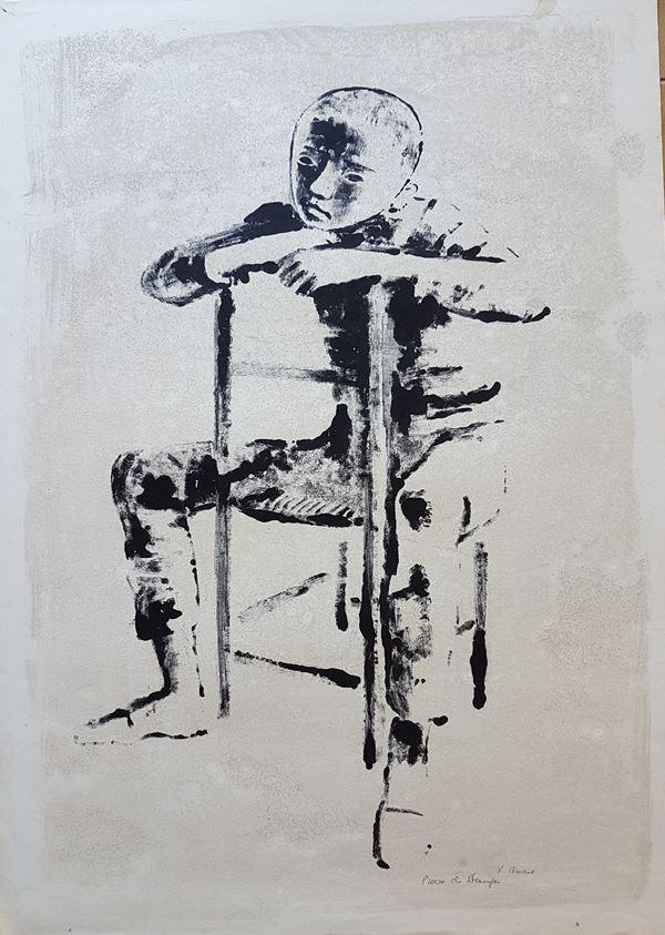 Xavier Bueno - Bambino seduto
