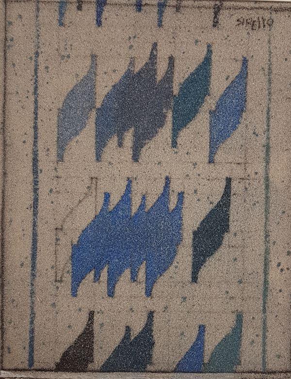 Enrico Sirello - Studio per murale celeste