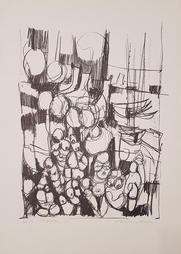 Anonimo : Triangolo  (1972)  - Litografia su cartoncino - Asta Asta a tempo di Arte Moderna e Contemporanea  - Fabiani Arte