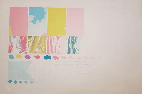 Umberto Buscioni - I quattro evangelisti si scambiano i colori e punto di cielo