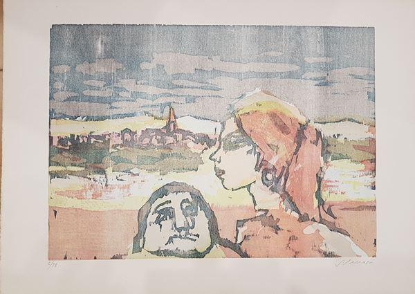 Maccari Mino e Cascella Michele - Lotto unico di due opere.