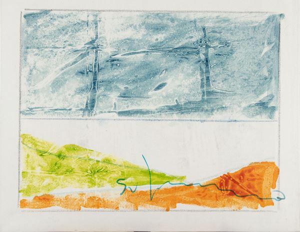 Mario Schifano - Paesaggio anemico
