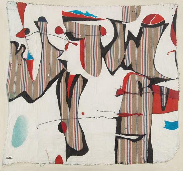 Wladimiro Tulli : Senza titolo  - Olio e tecnica mista su tela irregolare - Asta Arte Moderna e Contemporanea - Fabiani Arte