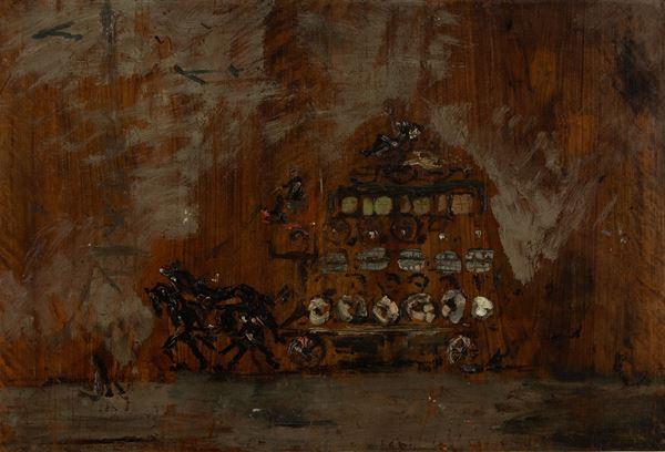 Filippo De Pisis - Paesaggio con carrozza e cavalli