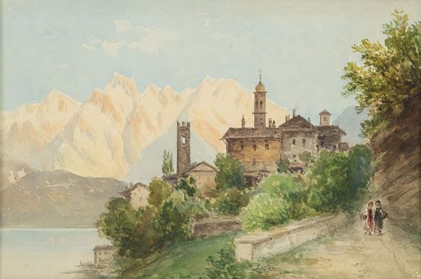 Giovan Battista Lelli - Paesaggio con figure