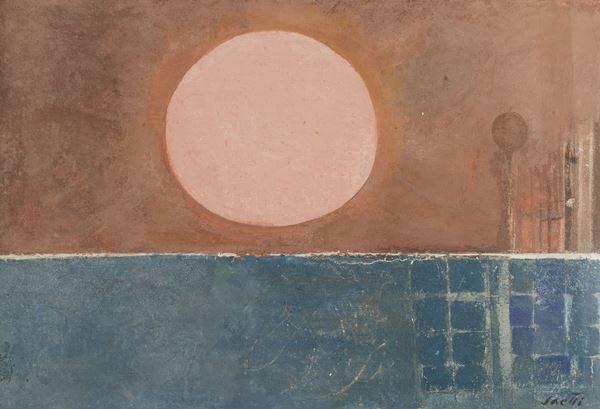 Bruno Saetti - Paesaggio dominato dal sole