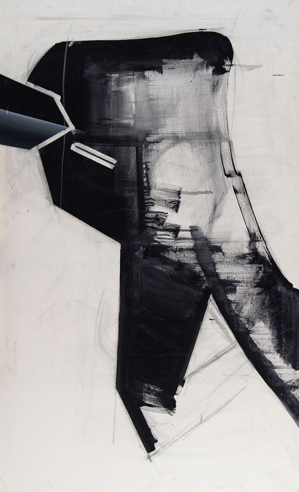 Toshiro Hamano : Bozzetto - omaggio a Michelangelo  - Olio su tela - Asta Arte Moderna e Contemporanea - Fabiani Arte