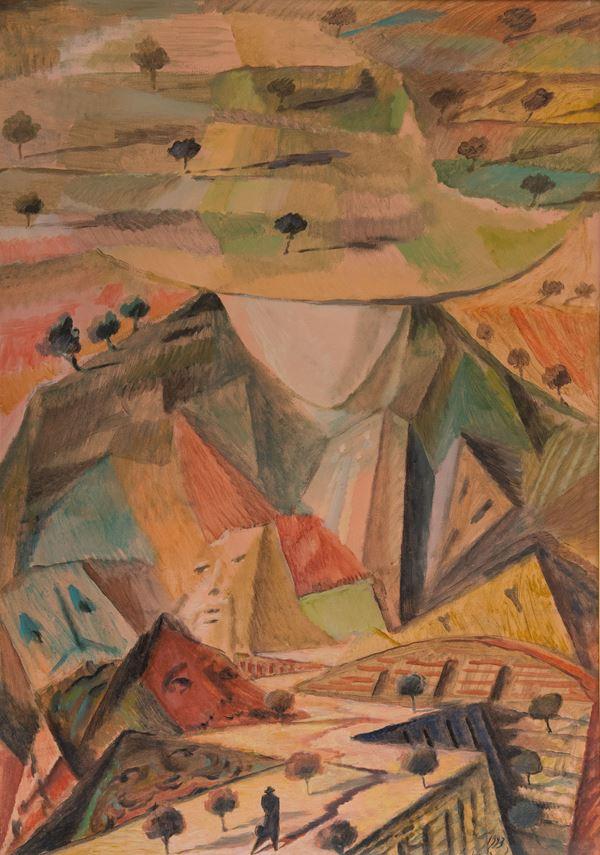 Andrea Granchi - Paesaggio nel luogo delle prospettive diverse (omaggio al ghirlandaio)