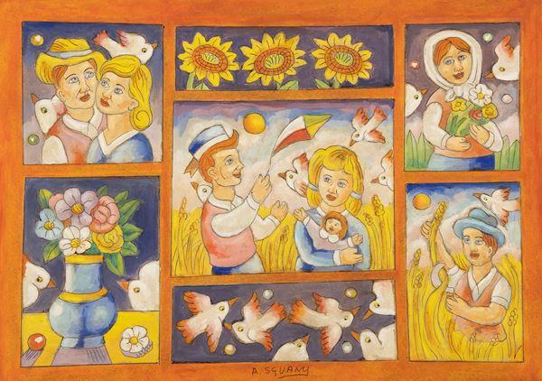 Roberto Sguanci - Composizione con giochi di bimbi