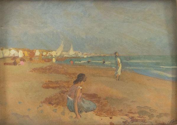 Carlo Passigli - Figure in riva al mare