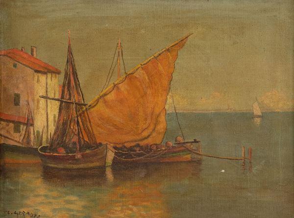 Geradts C. Marina con barche