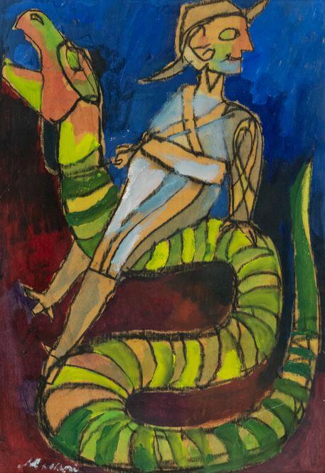 Mino Maccari - A calvallo del serpente