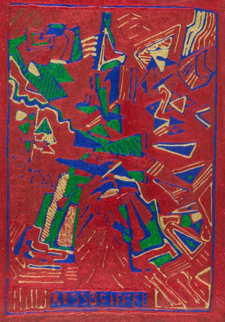 Aldo Mondino - Rosso Eiffel