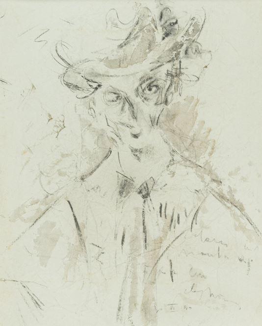 Filippo De Pisis - Ritratto con cappello