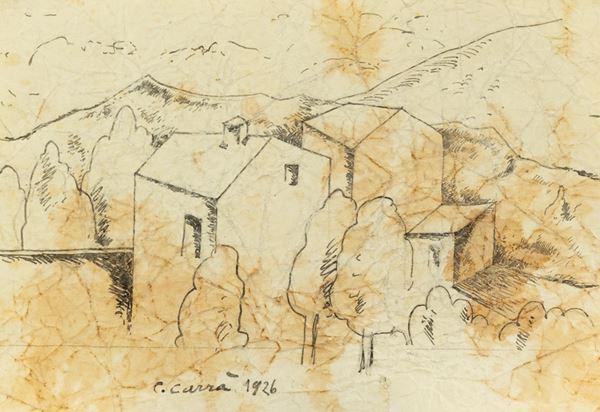 Carlo Carrà - Paesaggio
