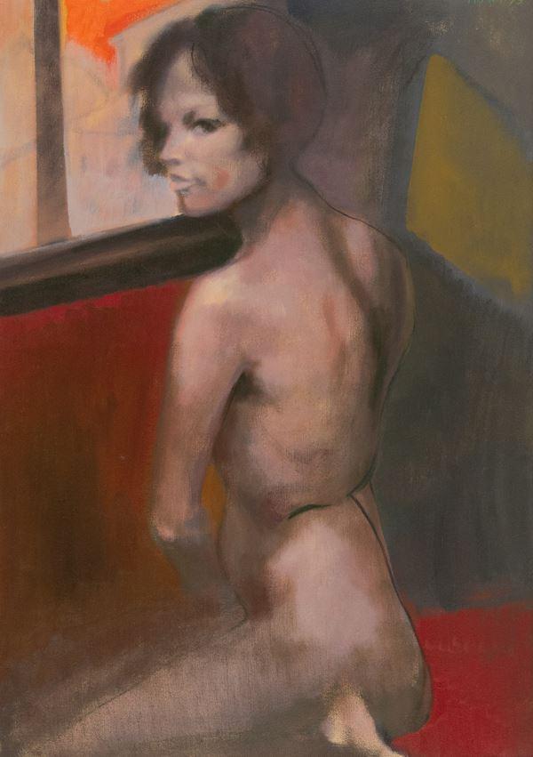 Ugo Attardi - Nudo di schiena