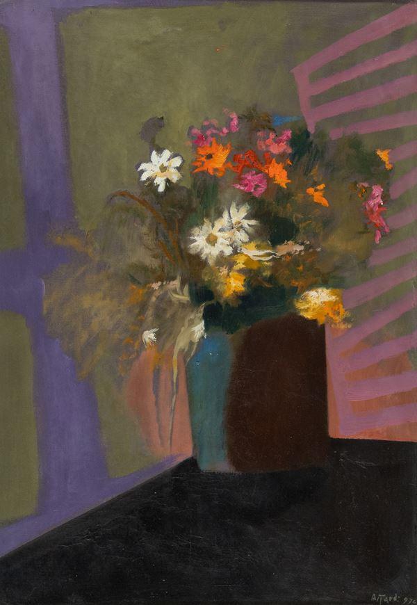Ugo Attardi - Vaso di fiori