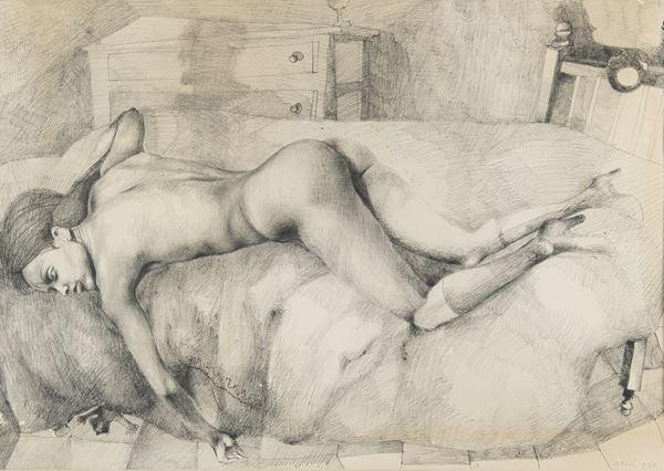 Ugo Attardi - Nudo disteso