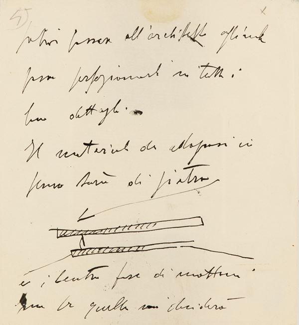 Marino Marini - Manoscritto