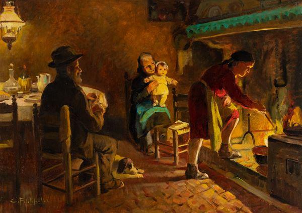Cafiero Filippelli - Scena famigliare