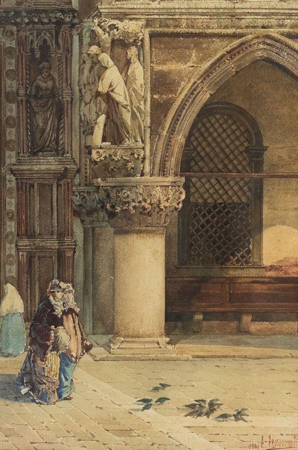 Alberto Prosdocimi - Figure di fronte al duomo