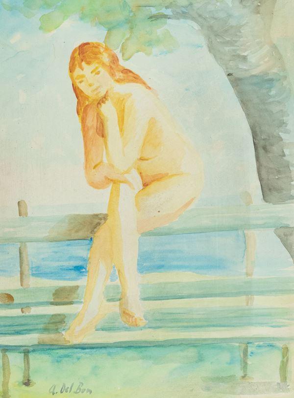 Angelo Del Bon - Nudo di donna