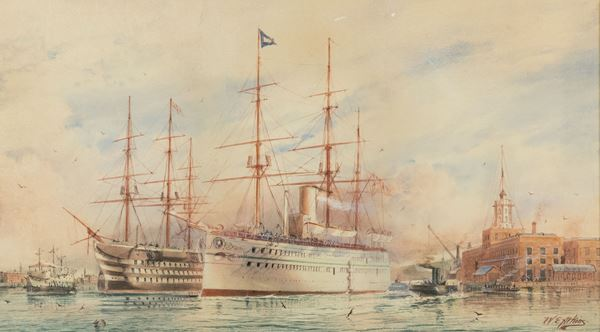 William Edward Atkins - Barche al prto