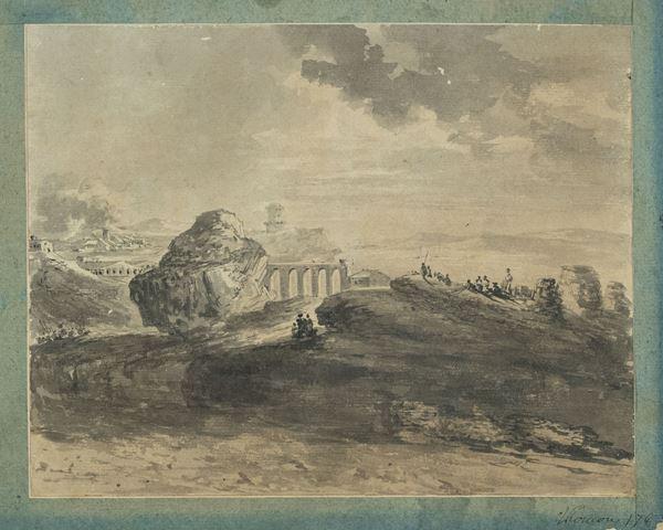 Thomas De Thomon - Paesaggio italiano con figure