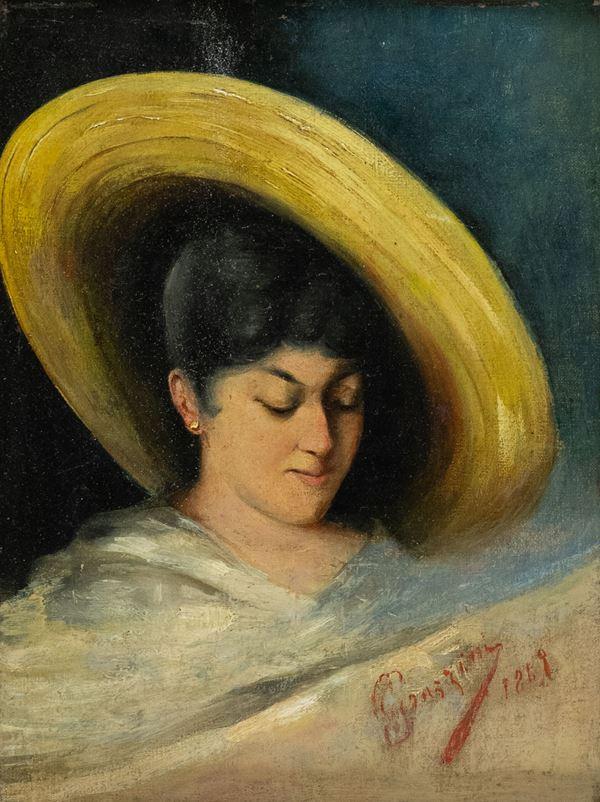 Eufemio Grazzini - Volto di donna
