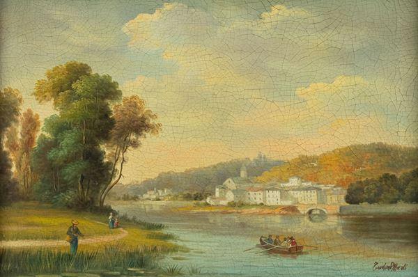 Teodoro Alberti - Paesaggio sul fiume