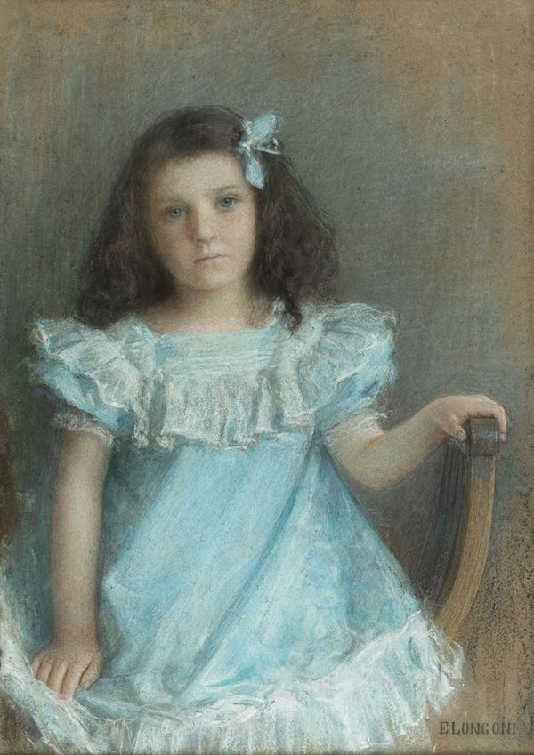 Emilio Longoni - Ritratto di bambina (Flaminia)