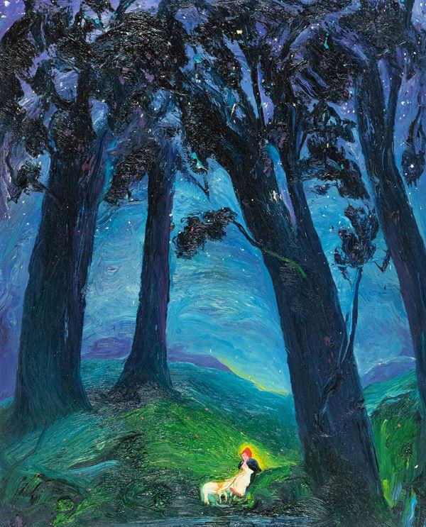 Pino Deodato - Figura nel bosco
