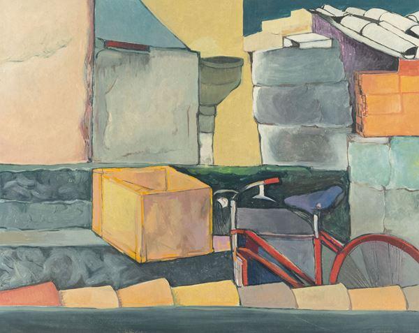 Luigi Guerricchio - Tetti con bicicletta