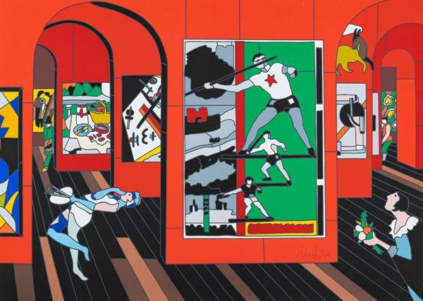 Ugo Nespolo - Artisti alla mostra