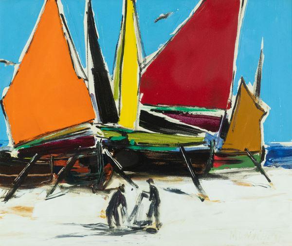 Sante Monachesi - Barconi sulla spiaggia