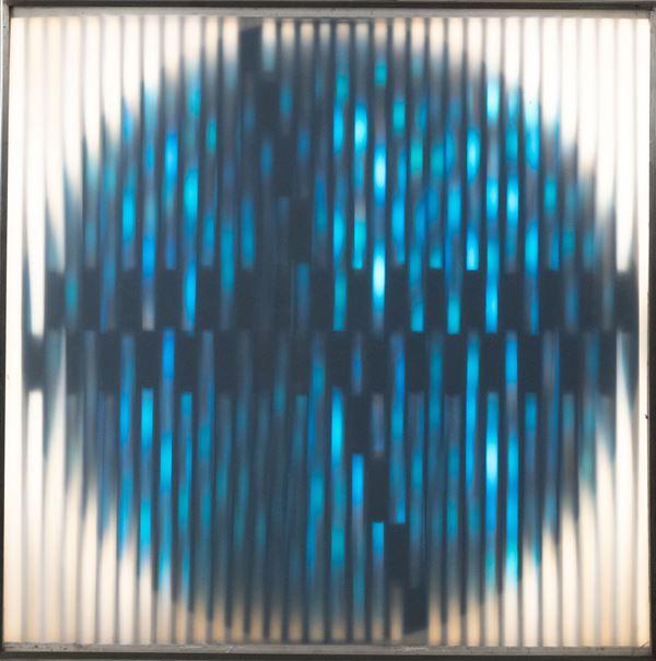 Nino Calos : Mobile lumineuse 325 1971 - Installazione luminosa cinetica, 65 Watt, 220 Volt - Asta Arte Moderna e Contemporanea, '800 e'900 - Fabiani Arte